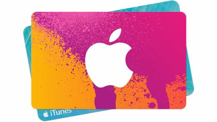 Apple warnt vor Betrügereien mit iTunes-Gutscheinkarten