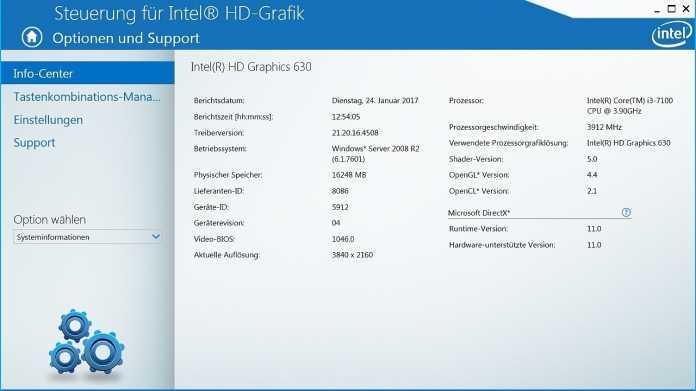 Intel-Grafiktreiber für Kaby Lake unter Windows 7