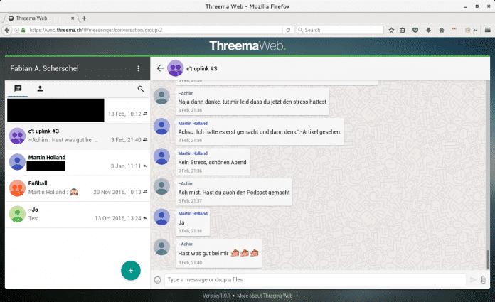 Auf die Inhalte der Ende-zu-Ende-verschlüsselten Threema-Chats kann man nun optional auch im Browser zugreifen.