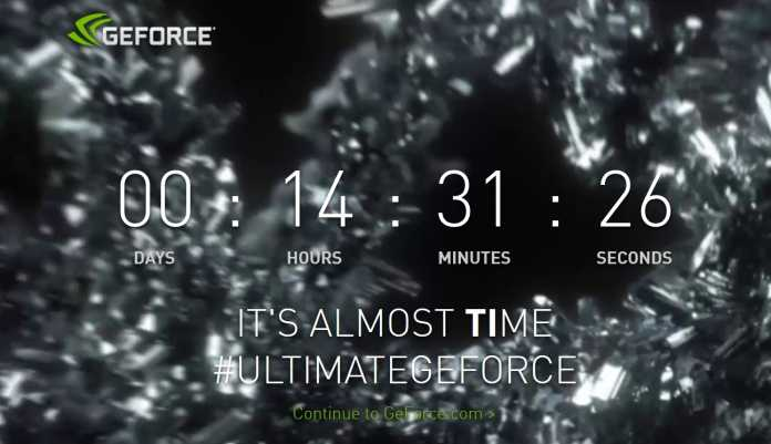 Nvidia-Countdown zur Vorstellung der neuen Ti-Grafikkarte.