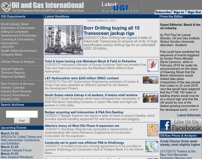 """Oil and Gas International: """"Wir haben unser eigenes Sicherheitssystem, es wurde in mehr als 15 Jahren niemals geknackt."""""""