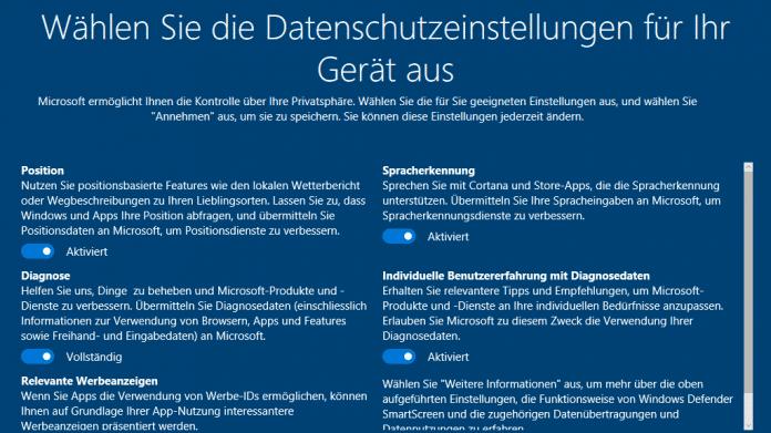 Creators Update: Microsoft erläutert die Datensammelwut von Windows 10