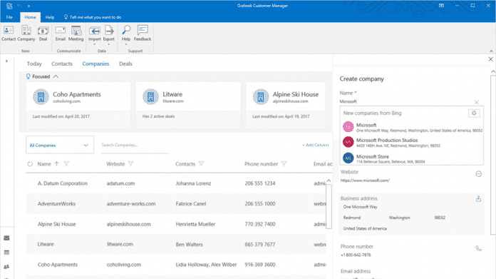Outlook Customer Manager: Neue Funktionen und fürs iPhone