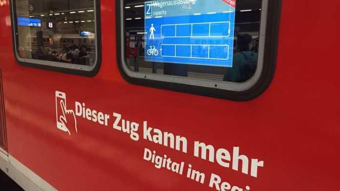 """""""Digital im Regio"""": Bahnkunden sollen vorm Einsteigen von freien Plätzen erfahren"""