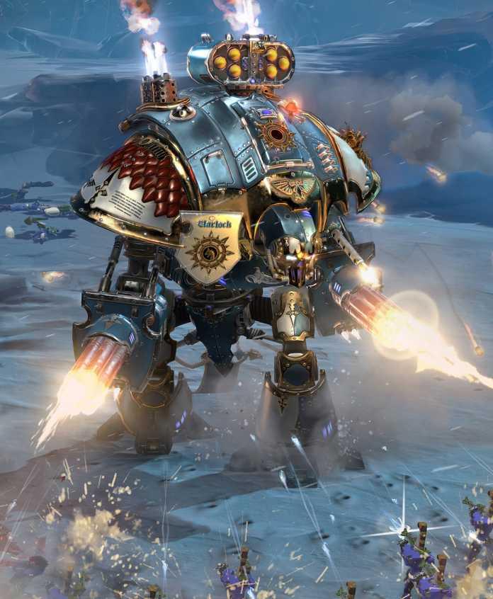Neu bei Dawn of War III sind große Elite-Einheiten wie dieser Imperial Knight