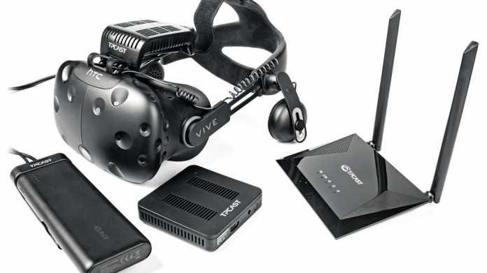 VR-Brille HTC Vive kabelllos: TPCast-Transceiver streikt beim Zappeln