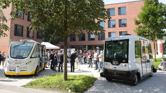 Berliner Charité und BVG testen autonome Kleinbusse
