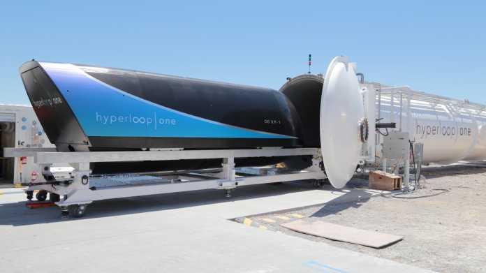 Hyperloop One: Neuer Geschwindigkeitsrekord und erster Testlauf mit dem Pod
