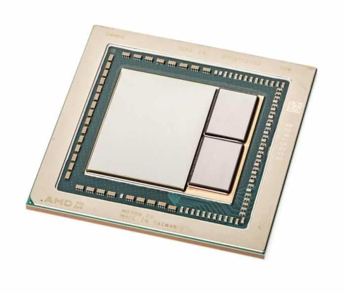 Die Vega-GPU mit zwei HBM2-Speicherstapeln.