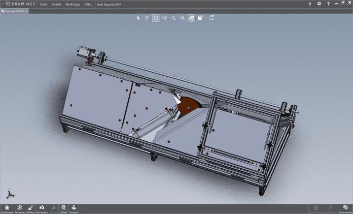 Das 3D-Modell des Buchscanners.