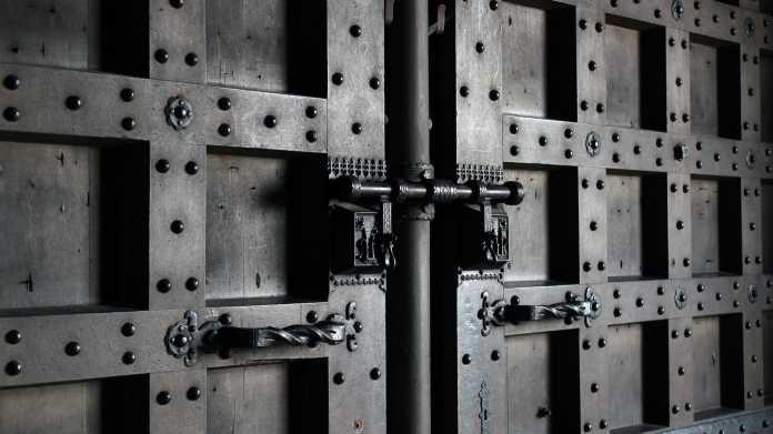 Verschlossene Tür, Schloss, Sicherheit