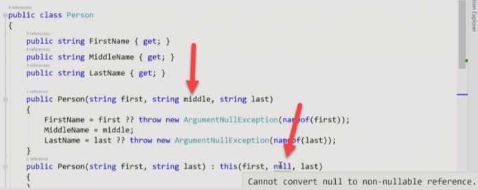 C# 8 soll Fehler mit null verhindern