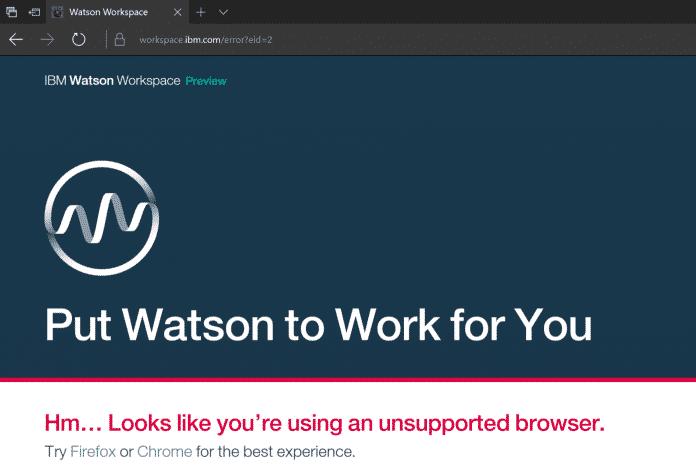 IBM Watson Workspace Essentials für alle