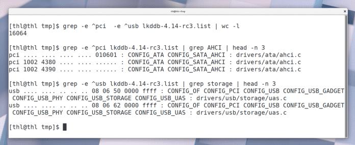 Durch Geräte-Identifikationsbezeichner weiß der Kernel, welchen Treiber es für eine bestimmte Hardware laden muss. Einige der Treiber sind für tausende verschiedener Chips zuständig.