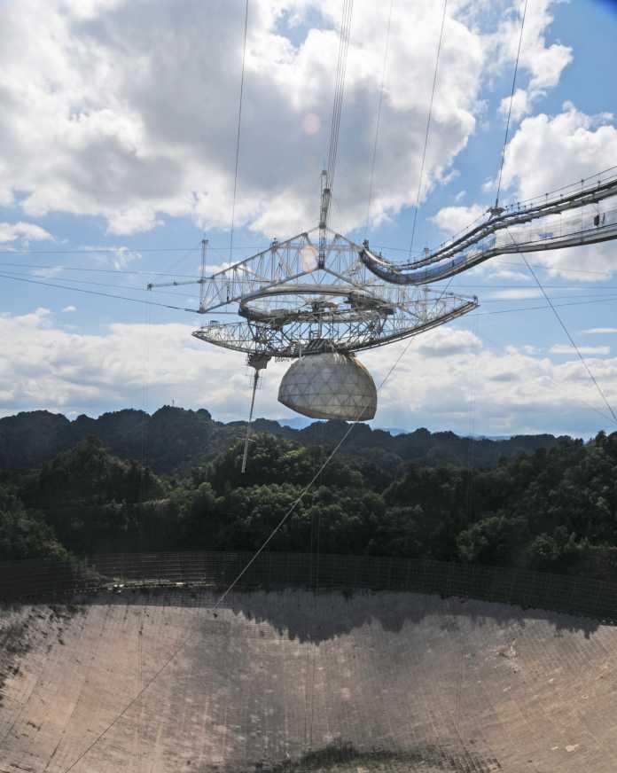 Detailaufnahme des Teleskops