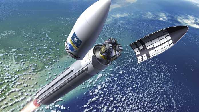 Galileo-Satelliten in der Ariane