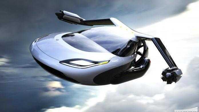 Autos gehen in die Luft gegen den Verkehrskollaps