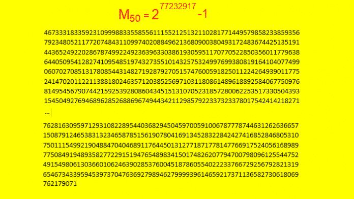 Die 50. -- und bislang größte bekannte -- Mersenne-Primzahl gefunden