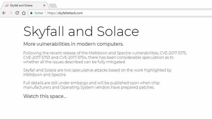 Screenshot der Seite skyfallattack.com
