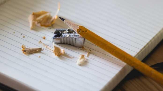 Schreiben, Bleistieft, Block