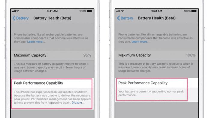 iOS 11.3: Details zu Apples Leistungsdrosselschalter beim iPhone