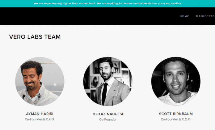 Das Team hinter Vero: Auch der Milliardär Ayman Hariri gehört zu den Mitgründern.