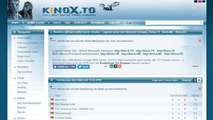 Kinox.to-Sperrung: Vodafone legt Berufung ein