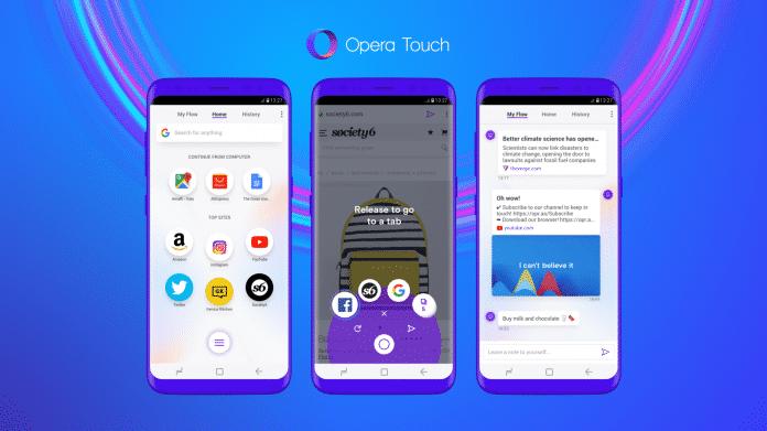 Opera Touch: Neuer Mobil-Browser für Android (und bald für iOS)