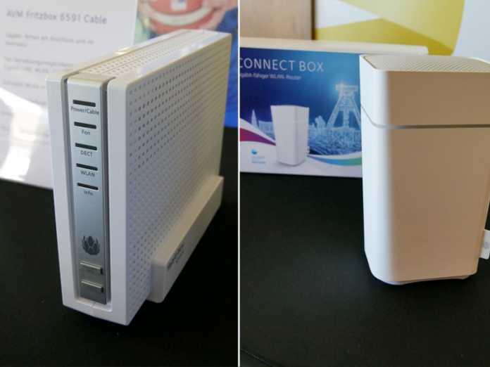 Mit der Connect Box von Unitymedia oder der Fritzbox 6591 Cable geht's ans Gigabit-Netz.