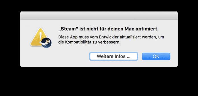 Die Warnung vor 32-Bit-Apps ist schon in macOS High Sierra präsent.
