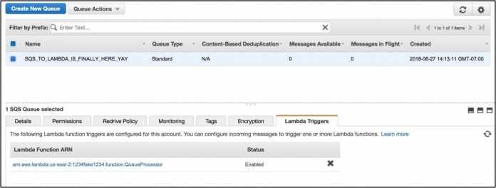 Serverless-Funktionen von AWS Lamba können nun auch mit Hilfe von SQS angestoßen werden. (Bild: Amazon Web Services)