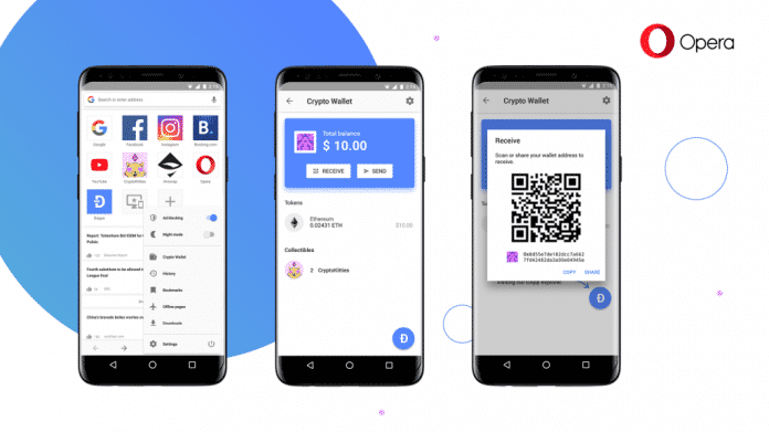 Opera-Browser integriert Krypto-Wallet