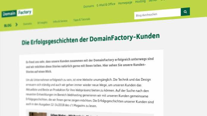 Nach Hackerangriff: Domainfactory sichert Kundeninterface mit Web Application Firewall