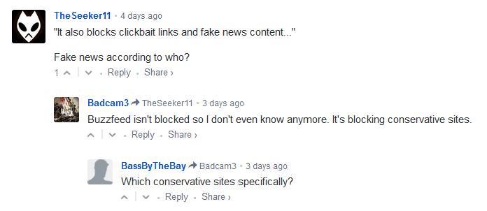 """Nutzer rätseln im Malwarebytes-Blog über die Funktionsweise des """"Fake-News-Schutzes""""."""
