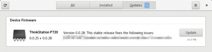 Der Beweis: Auch Linux-Nutzer können endlich das BIOS ihrer Lenovo-Geräte aktualisieren.