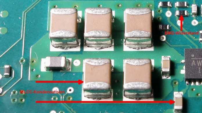 MLCC-Kondensatoren, SMD-Widerstände
