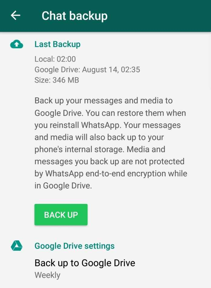 Wer sichergehen will, dass Chat-Backups nicht aus der Google-Cloud gelöscht werden, sollte in WhatsApp einen regelmäßigen Plan einstellen.