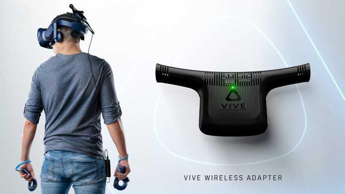 VR-Brille: HTC-Set soll die Vive kabellos machen
