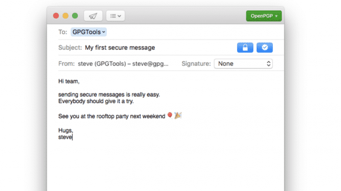 PGP in Apple Mail