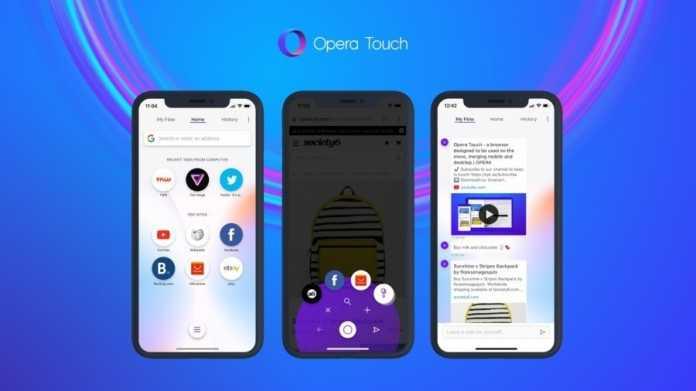 Opera Touch will zum iPhone-X(S)-Browser werden