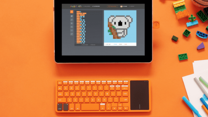 Kinder-Computer mit Touchscreen