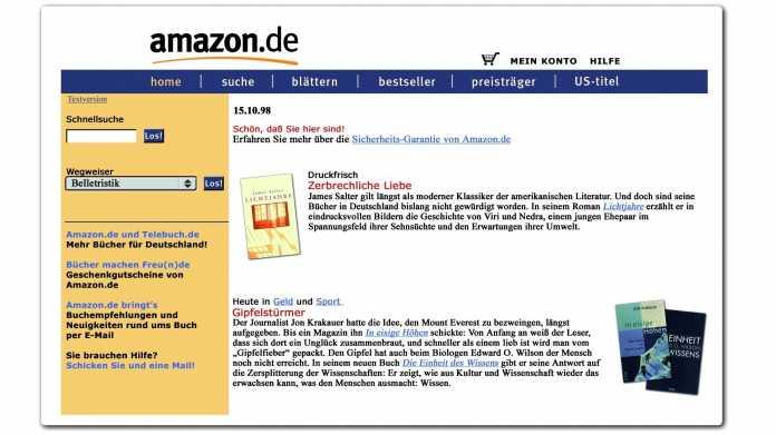 Der Buchverkäufer, der zum 800-Pfund-Gorilla wurde: 20 Jahre Amazon.de