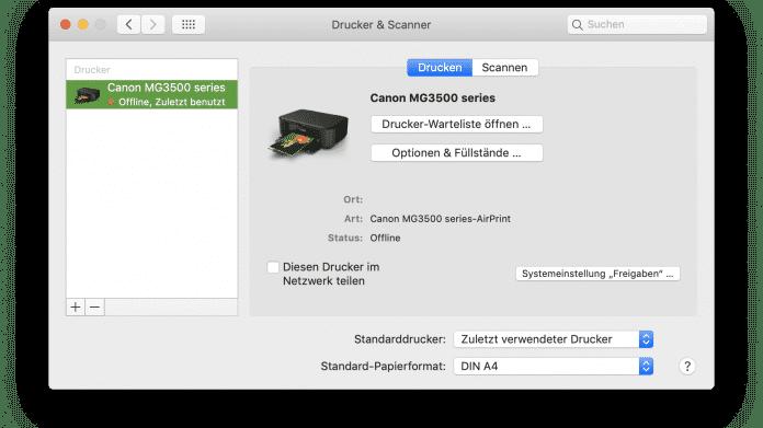Druckertreiber für den Mac: Apple stellt Kompatibilitätsliste ein