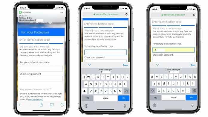 SMS-Autofill in iOS 12 und macOS Mojave: Bequemlichkeit bleibt unsicher