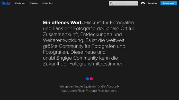 Flickr schränkt sein kostenloses Angebot ein