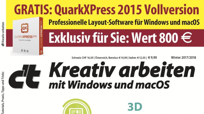 c't Kreativ arbeiten mit XPress-Vollversion jetzt bestellbar