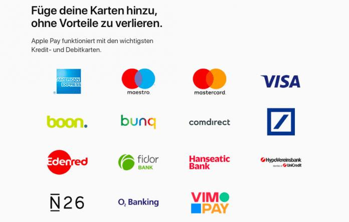 Apples Banken-Partner für den Deutschlandstart von Apple Pay.