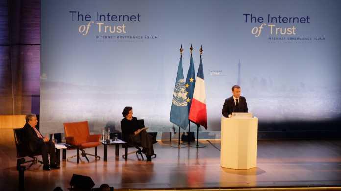 Staatspräsident Macron: Internet muss reguliert werden, um frei zu bleiben