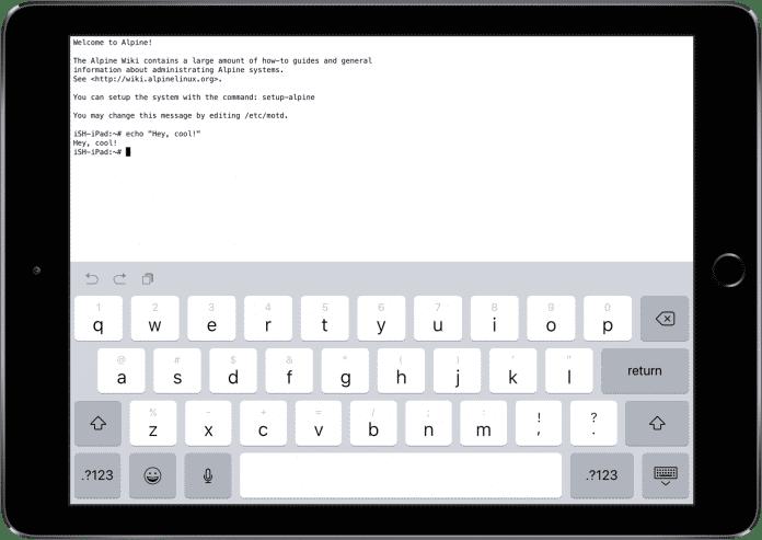 Eine App bringt Alpine Linux auf iPhone und iPad.