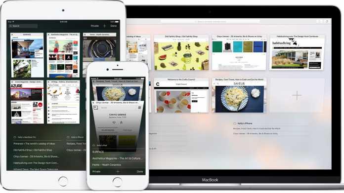 Safari auf iPhone, iPad und Mac